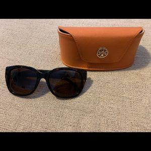 Tory Burch oversized sunglasses w/ hard case